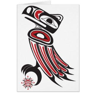 El cuervo roba el sol tarjeta de felicitación