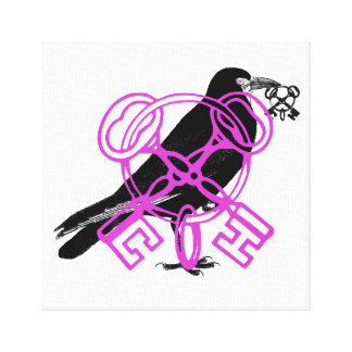 El cuervo roba la llave maestra lienzo envuelto para galerías