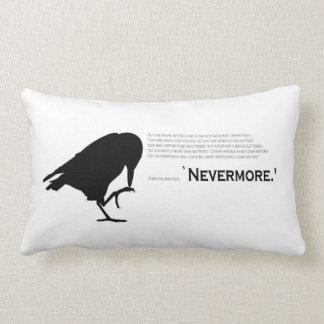 El Cuervo soporta nunca más Cojín