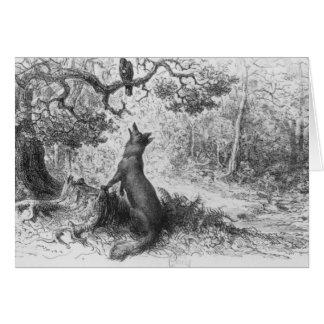 El cuervo y el Fox Tarjeta De Felicitación