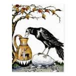 El cuervo y la postal de la jarra