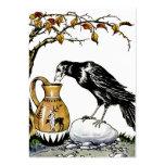 El cuervo y la tarjeta del perfil de la jarra plantillas de tarjetas de visita