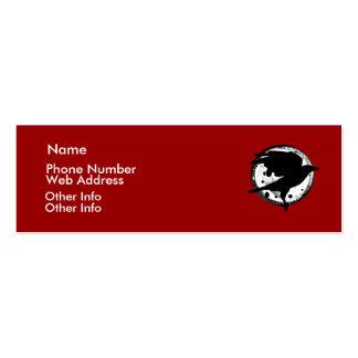 El cuervo y la tarjeta del perfil de la luna plantilla de tarjeta de visita