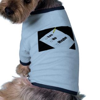 El cuestionario de papel ningún dibuja a lápiz sí camisas de mascota