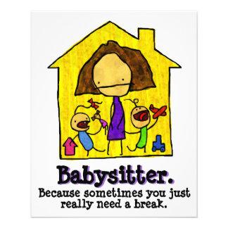 El cuid losar nin¢os. Cuidado de niños. Cuidado d Tarjeta Publicitaria