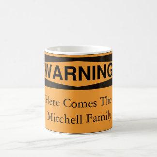 El cuidado aquí viene la taza de la familia