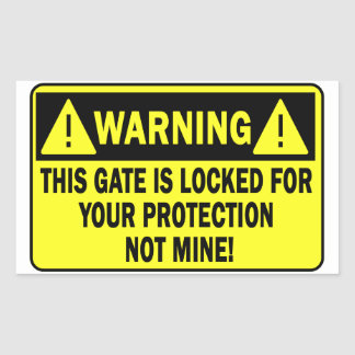 El cuidado de esta puerta es bloqueado para su pegatina rectangular