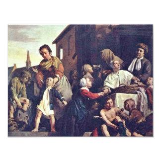 El cuidado de los huérfanos en enero De Bray (la Invitación 10,8 X 13,9 Cm