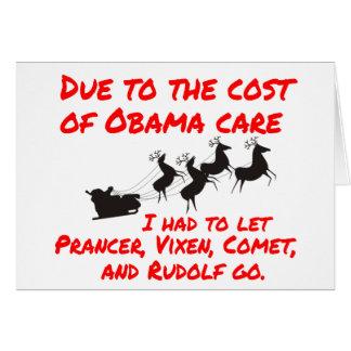 El cuidado de Obama afecta a Santa Felicitación