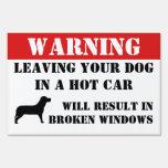 El cuidado dejando el perro en ventanillas del coc