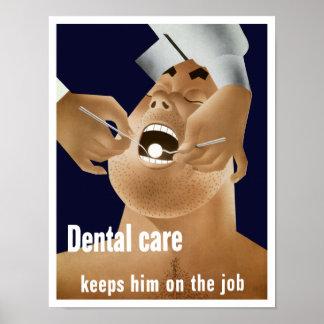 El cuidado dental lo guarda en el trabajo -- WW2 Posters