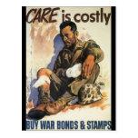 El cuidado es la guerra mundial costosa 2 postal