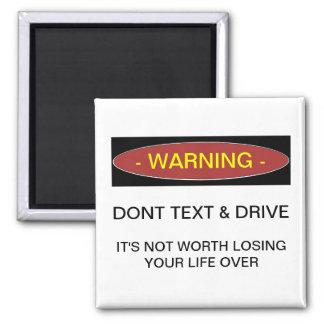 El cuidado no hace imán del texto y del refrigerad