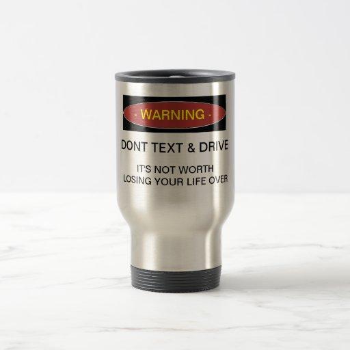 El cuidado no hace taza del texto y de café de la