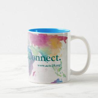 El cuidado, parte, conecta la taza