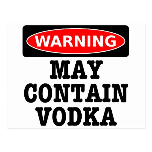El cuidado puede contener la vodka postal