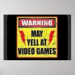 El cuidado puede gritar en los videojuegos poster