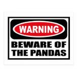 El cuidado SE GUARDA de la postal de las PANDAS