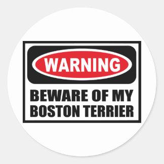 El cuidado SE GUARDA de MI pegatina de BOSTON