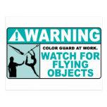 ¡El cuidado se guarda de objetos del vuelo! Postales