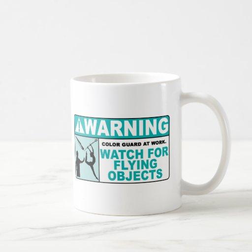 ¡El cuidado se guarda de objetos del vuelo! Taza De Café