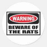 El cuidado SE GUARDA del pegatina de las RATAS