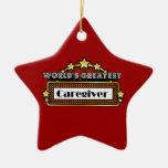 El cuidador más grande del mundo ornamento para arbol de navidad