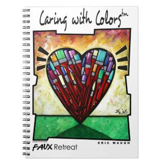 El cuidar con colores cuadernos