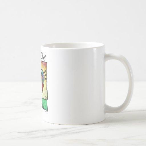 El cuidar con colores taza de café