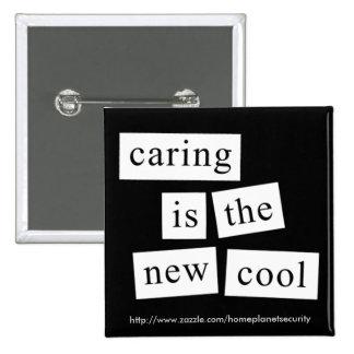 el cuidar es el nuevo refresca - el botón pin cuadrado