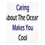 El cuidar sobre los océanos hace que usted se refr plantilla de membrete