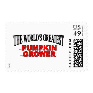 El cultivador más grande de la calabaza del mundo timbres postales