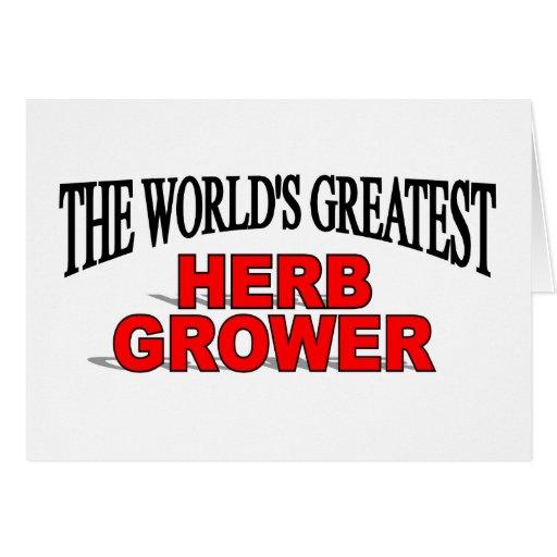El cultivador más grande de la hierba del mundo tarjeta de felicitación