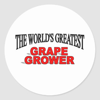 El cultivador más grande de la uva del mundo pegatina redonda