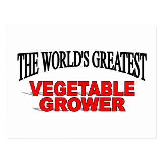 El cultivador vegetal más grande del mundo postal