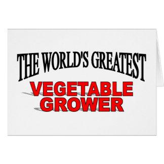 El cultivador vegetal más grande del mundo tarjeta de felicitación