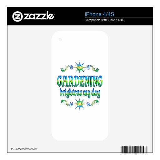 El cultivar un huerto aclara calcomanía para iPhone 4