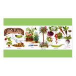 El cultivar un huerto de Botanicals del jardín del Tarjetas De Visita