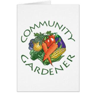 El cultivar un huerto de la comunidad tarjeta de felicitación