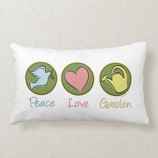 El cultivar un huerto del amor de la paz cojín