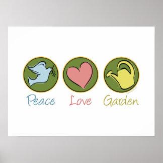 El cultivar un huerto del amor de la paz posters
