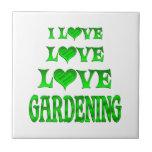 El cultivar un huerto del amor del amor tejas  cerámicas