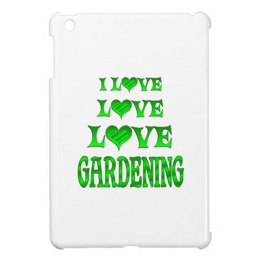 El cultivar un huerto del amor del amor iPad mini fundas