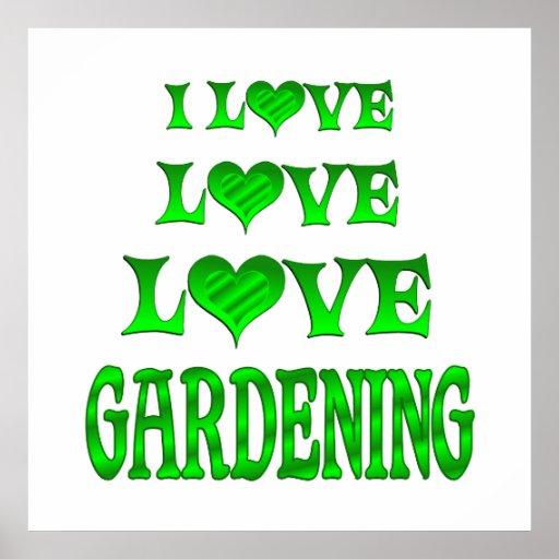 El cultivar un huerto del amor del amor poster