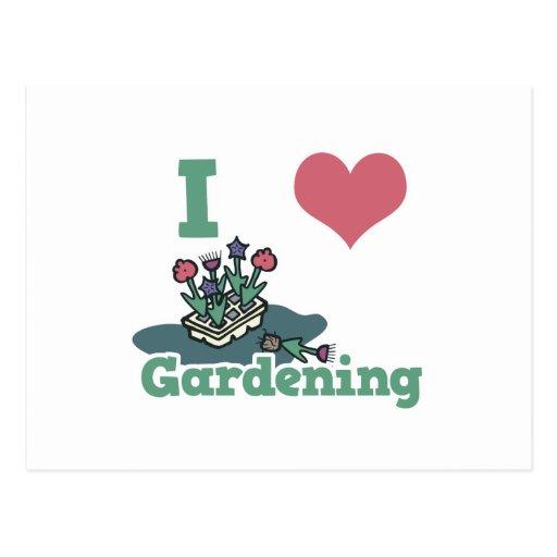 el cultivar un huerto del corazón i postal
