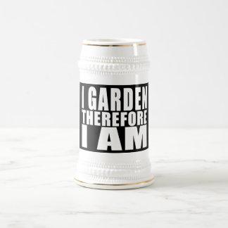 El cultivar un huerto divertido de la cita: jarra de cerveza