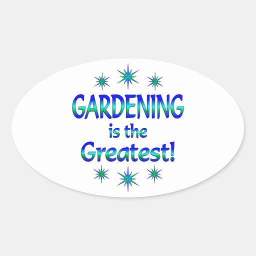 El cultivar un huerto es el más grande pegatina de ovaladas