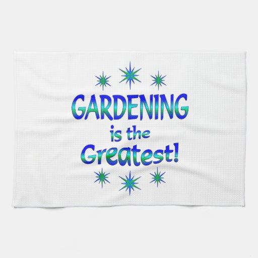 El cultivar un huerto es el más grande toalla