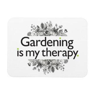 El cultivar un huerto es mi terapia iman rectangular