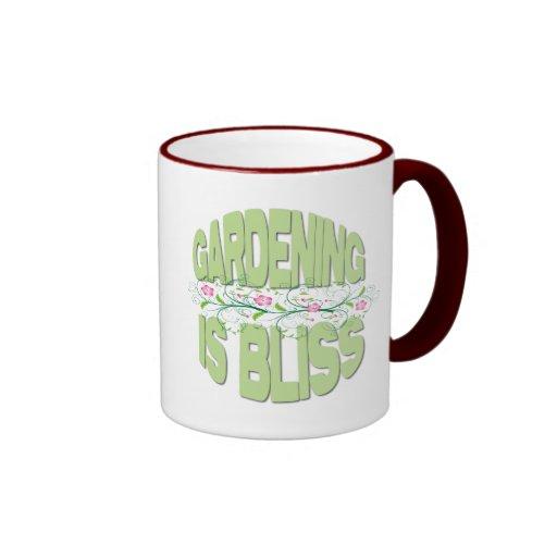 El cultivar un huerto es regalos de la dicha tazas de café